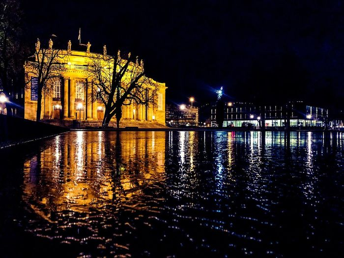 #theatre #stuttgart #city #light #shadow #skyline #lightshow #eyeem #eyeemnewhere Illuminated Night Architecture Building Exterior Water Built Structure Waterfront Reflection Building Sky City Travel Destinations No People Travel Nature Tourism River Outdoors Cityscape Nightlife 17.62°