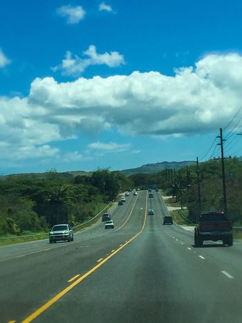 Roadtrip Roadtrippin' Guam Guamlife EyeEm Guam Road Cars Travel Travelling EyeEm Gallery Check This Out Hanging Out Enjoying Life Hello World Traffic Paved Road Highway Blue Sky White Clouds Nice Day Essence Of Summer The Essence Of Summer
