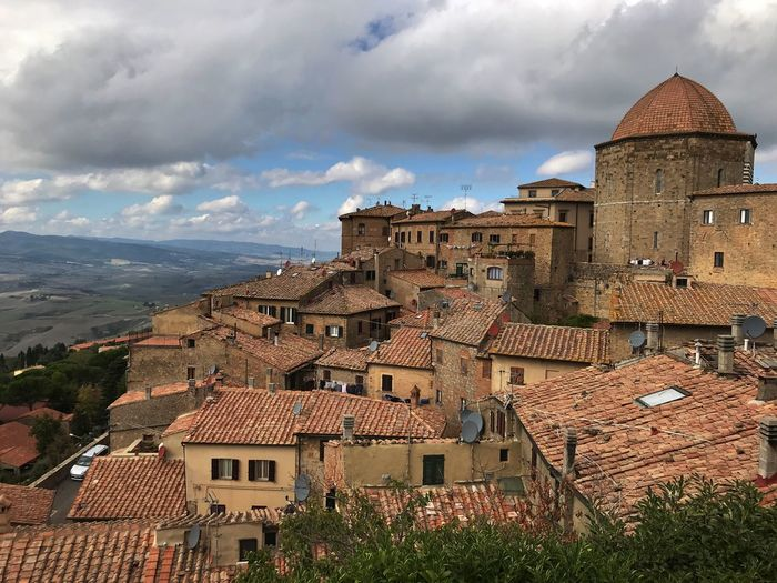 Volterra, Italy Hill Town Tuscany Italy Volterra Building Exterior Architecture Built Structure Building Cloud - Sky Sky City TOWNSCAPE Cityscape House Outdoors Travel Town Travel Destinations Day No People Residential District High Angle View Roof