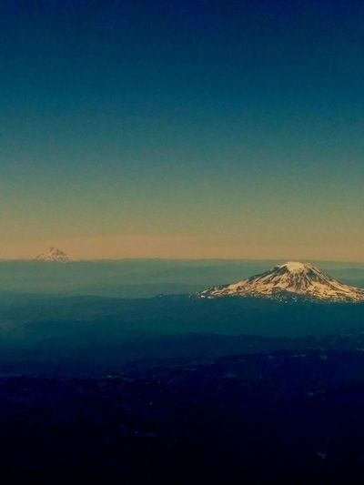 Mountain Range Mountain_collection Mountains And Sky Tranquility Outdoors Blue Nature No People Beauty In Nature Scenics Sky Mount Rainier Mount Rainier, Washington, Nature, Cascadia Pacific Northwest  View From An Airplane Breathing Space The Week On EyeEm