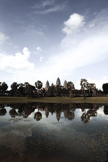 An early morning Angkor Wat, Cambodia Angkor Wat, Temples, Kmer Culture Asian Culture Cambodia Cambodia Travel Khmer Culture Siem Reap Travel Photography UNESCO World Heritage Site Angkor Temple Angkor Wat Angkor Wat Moat Angkor Wat Reflection Angkor Wat Silhoutte Cambodia Photography Cambodia Temple Cambodia Tour Cambodian Culture Destinations Asi Khmer Empire Khmer Temple Muted Colors Pond Reflections Travel Asia Travel Cambodia First Eyeem Photo