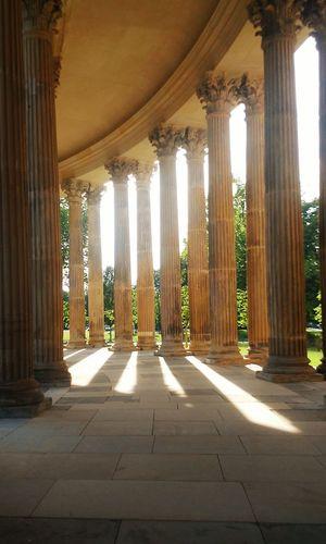 Potsdam Sanssouci Park Potsdam Park Garden Columns Light Sun Travel No People Germany