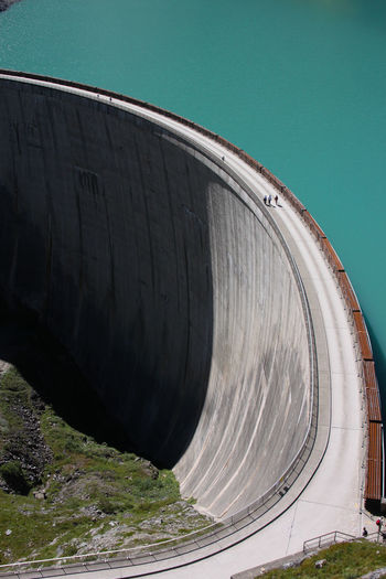 Dam Architecture Hydroelectric Power Built Structure Outdoors High Angle View Concrete Day Renewable Energy Water