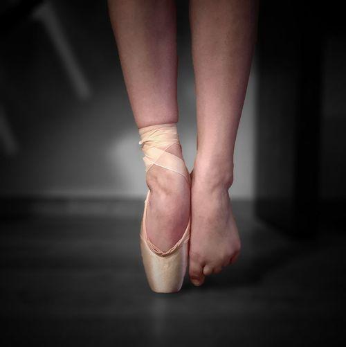 Ballet Dancer On Toetip