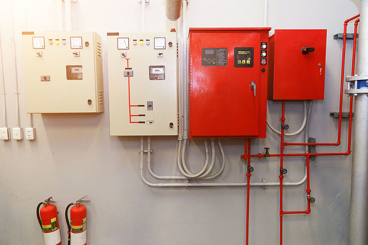 Electrical equipment on wall