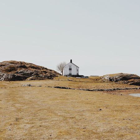 Norwegian house. Built Structure Architecture Building Exterior Clear Sky No People Nature Day Outdoors Landscape Beauty In Nature Scenics Sky Scandinavia Norway Coast