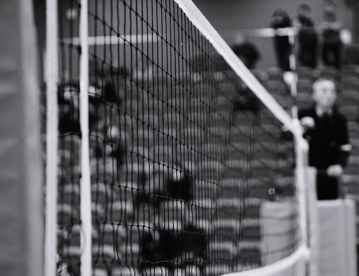 volleyball game Blackandwhite Contrast Monochrone Bnw Sony Volleyball Net Referee STAND Metal No People Day Outdoors Close-up Soccer Field Tennis