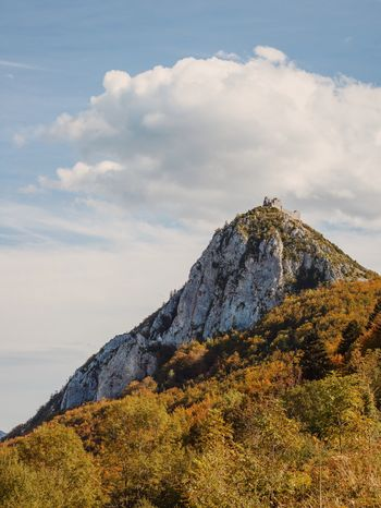 Castle Cathars Ariege Pyrenees Midi-Pyrenees Autumn Colors Fall Colors Clouds Montsegur