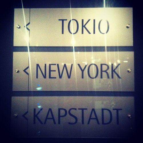 Next stop.... Tokyo Newyork Capetown Stsleipzig