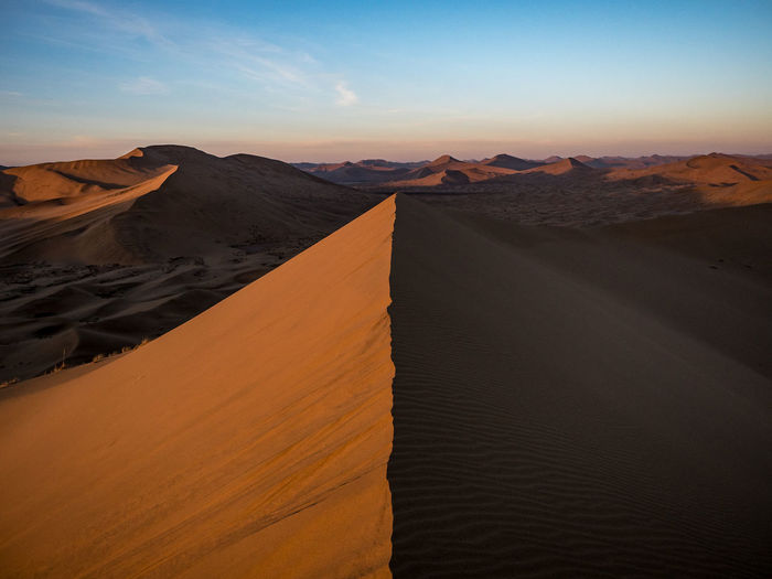 Sand dunes in the gobi dessert, china