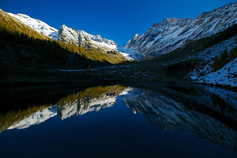 Wallis, Lötschental Water Beauty In Nature Reflection Tranquility Scenics - Nature Mountain Lake