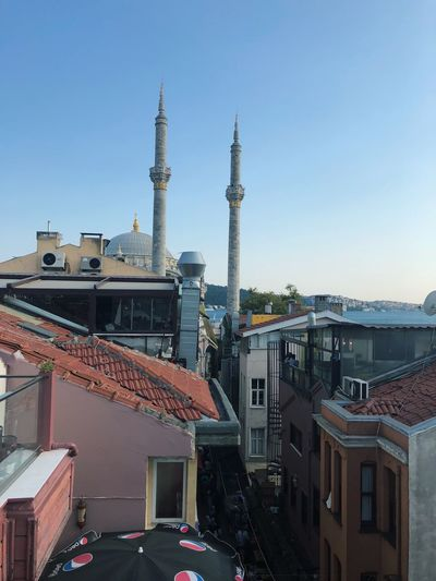 Istanbul Mosque Turkey EyeEm Selects Building Exterior Architecture Built Structure Sky Building City Clear Sky Tower Religion Spirituality Travel Destinations