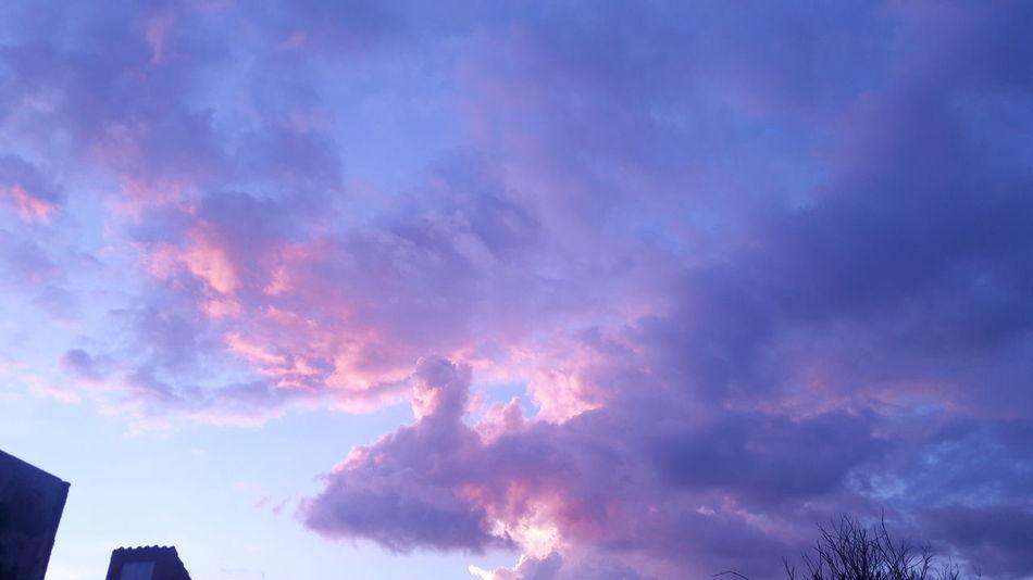 Las nubes parecen estar hechas de algodón de azúcar ♡ Sinfiltro Nubes Y Cielo Sky