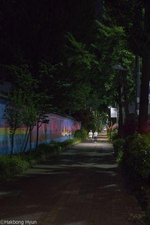 Samgakji area in Seoul Korea