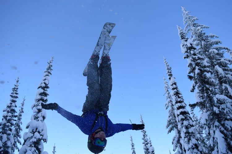 Sandpoint Skiing Snow Winter Mountains North Idaho Schweitzer Mountain Backflip Jump