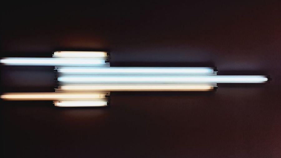 Illuminated Electricity  No People Close-up Indoors  Modern Art Museum Ludwig Köln Museum Indoors  Dan Flavin  Art
