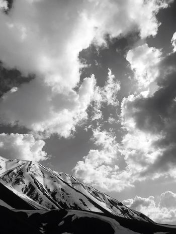 EyeEmNewHere Snow Blackandwhite Cloud - Sky Sky Low Angle View Built Structure Nature Architecture No People