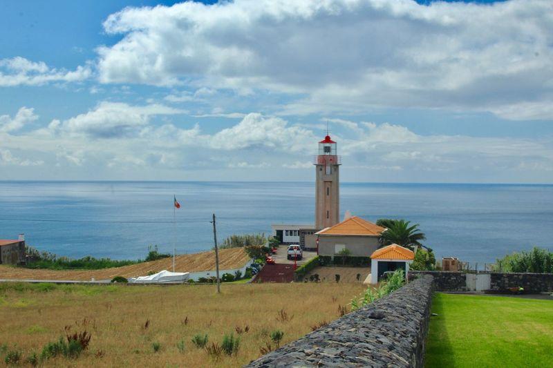 Lighthouse Built Structure Architecture Sky Water Cloud - Sky Building Exterior Sea