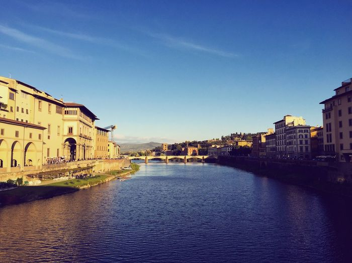 Florence, Italy Outdoors Nce, Italy Architecture Riverside River View Florence Florence Italy Ponte Vecchio Sky Landscape River Riverscape Clear Sky City Travel Destinations Italy Firanze Italian Italia Bridge Bridge View Bridge Photography