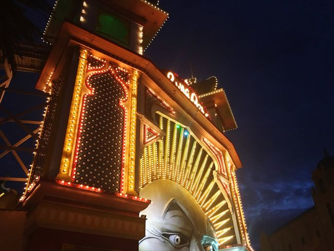 Luna Park Low Angle View Architecture Illuminated Built Structure Night Building Exterior Sky