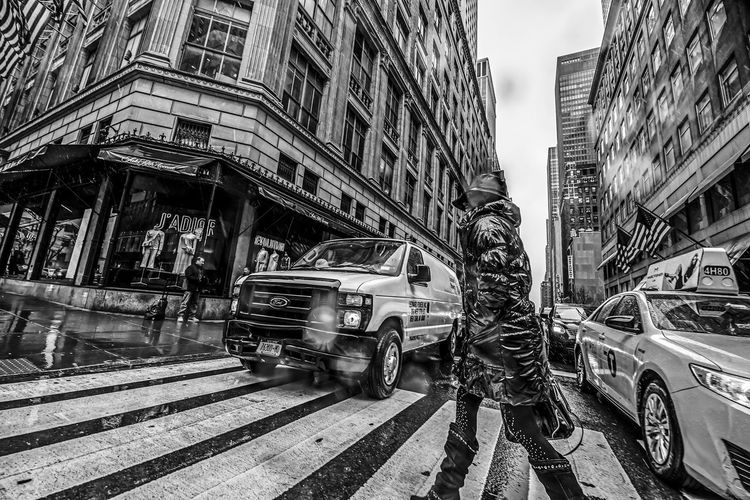 """Crosswalk"" Manhattan NYC Photography NYC Street NYC EyeEm Best Shots EyeEmBestPics Rain Architecture Building Exterior Built Structure Car City City Life Day Land Vehicle Mode Of Transport Outdoors Street Transportation Stories From The City The Street Photographer - 2018 EyeEm Awards My Best Photo"