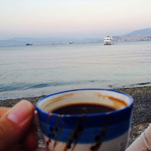 Beach Water Turkishcoffee Outdoors Day Horizon Over Water Adult Sky Close-up Nature One Man Only Only Men
