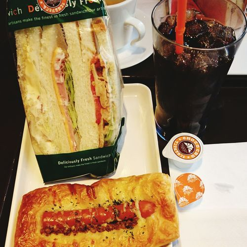 Caffee☕ コーヒー Cafe Coffee 珈琲 Caffè Food And Drink Caffee 食べもの Foods Food ST.MARC CAFE Saint Marc Cafe サンマルク サンマルクカフェ サンドイッチ Food And Drink Sandwiches Sandwich