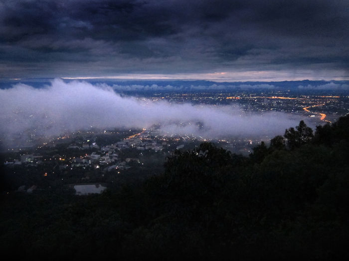 Dawn looking over the northern Thai city of Chiang Mai Chiang Mai Chiang Mai | Thailand City City Lights Clouds Clouds And Sky Dawn Lights Sky Sunrise Thailand Viewpointphuket