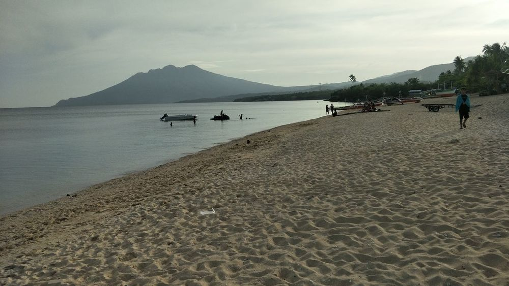 Mount Malindig summer sand sea Beauty of Nature Flamingo Sand Bird Sky Landscape First Eyeem Photo