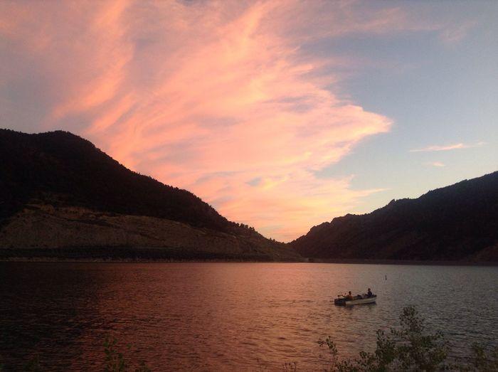 No Filter Lake Colorado Sunset Peaceful Rifle Falls State Park