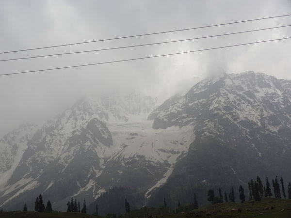 Ice Mountain Kashmir , India Landscape_Collection Into The Clouds Mountains Power Supply Line Tranquility Sky Lost In The Landscape The Week On EyeEm EyeEmNewHere