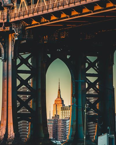 Golden and Blue hour NYC Photography Empire State Building Manhattan Bridge DUMBO, Brooklyn Newyorkcity Architecture Built Structure Travel Destinations City Building Exterior Tourism Travel Building Nature Bridge Outdoors My Best Photo The Art Of Street Photography
