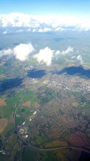 a beautiful view of easten uk on my trip home from poland. Clouds Light And Shadow Sky And Clouds EyeEm Gallery English City England River Motorway Birds Eye View City Town Sea Port English Town English Countryside