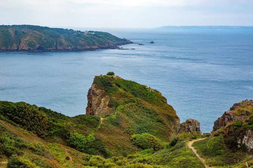 English Channel Eperquerie Isle Of Sark Beauty In Nature Cliff Day Horizon Over Water Idyllic Island Landscape Mountain Nature No People Outdoors Rock - Object Rock Formation Sark Scenics Sea Sky Tranquil Scene Tranquility Travel Destinations Water