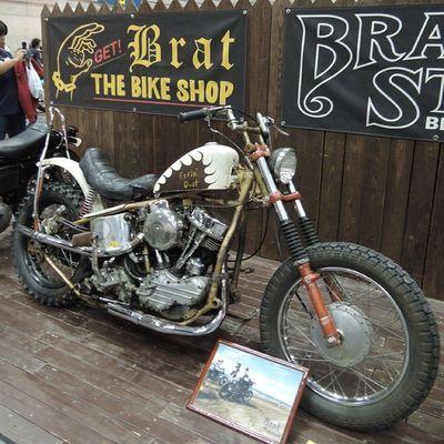 Yokohama hotrod custom show 2013 Hcs2013 Harley Davidson Panhead Chopper bobber bratstyle
