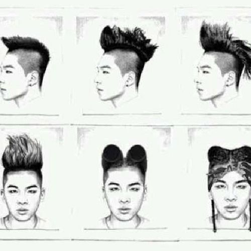 @youngbeezzy 太阳哥哥的的发型蜕变,谁知道他下一个发型是什么Bigbang YB 东永裴 太阳 vip