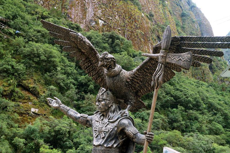 View of a bird sculpture