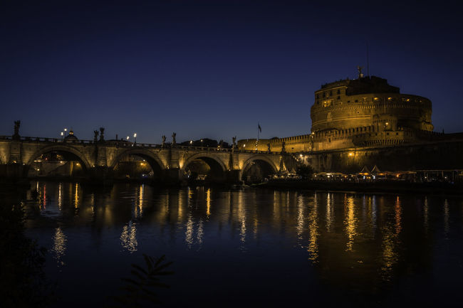 Egelsbrücke und Engelsburg Ancient Cityscape Engelsbrücke Landscape_Collection Reflection Roma Rome Rome By Night Rome, Italy Tiber River Travel Travel Photography Vatican VaticanCity Ancient Architecture Architecture Bluehour Cityphotography Engelsburg History Italy Landscape Ponte Sant'Angelo Rome Italy Travel Destinations Your Ticket To Europe The Week On EyeEm EyeEmNewHere