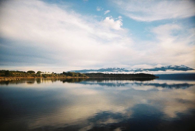Film SuperHeadz Beauty In Nature Cloud - Sky Day Nature New Zealand No People Outdoors Reflection Scenics Sea Sky Tranquil Scene Tranquility Water Waterfront