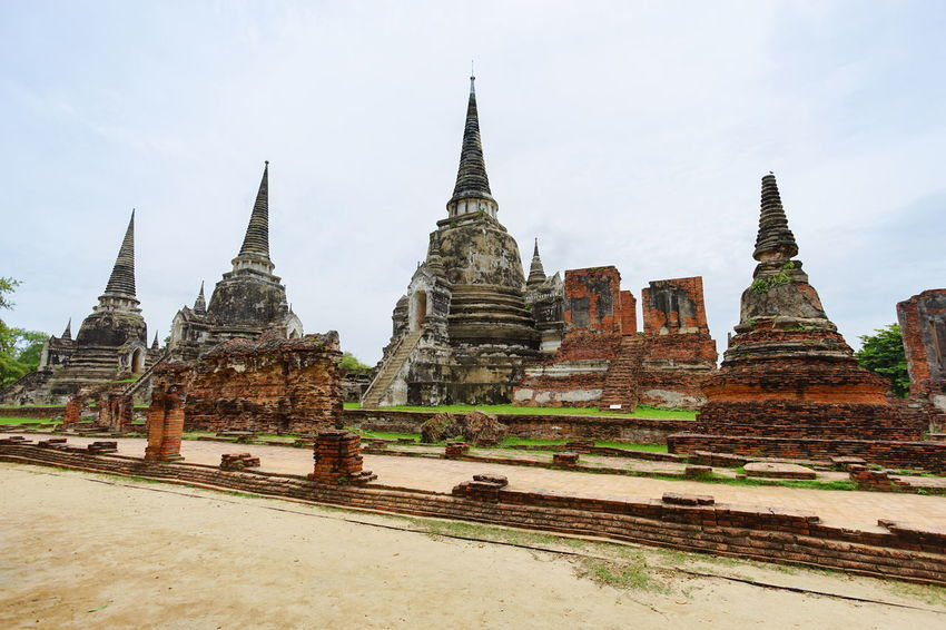 Wat Phrasisanpetch the part of Ayutthaya Historical Park, Ayutthaya Province, Thailand. Ancient Architecture Ayutthaya Ayutthaya Historical Park, Thailand Thailand World Heritage Site By UNESCO World Heritage History