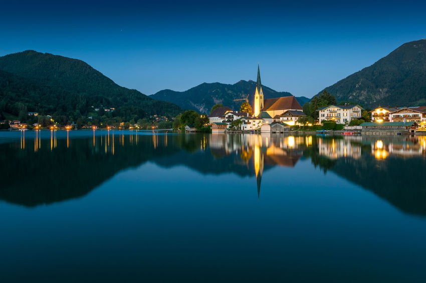 Tegernsee at dusk Bavaria Holidays Rottach-Egern Tegernsee Travel Vacations Alps Beauty In Nature Blue Destinations Dusk Europe Evening Germany Idyllic Lake Landscape Miesbach Mountain Nature Outdoors Reflection Summer Tranquility Wallberg