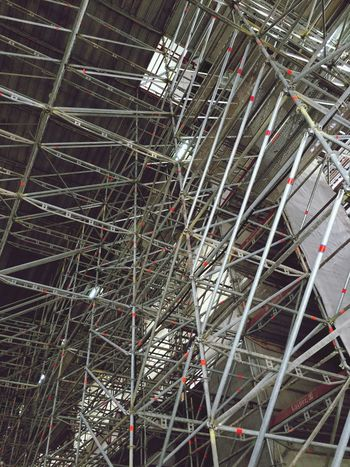 Scafolding Construction Work Lines And Patterns Abstract