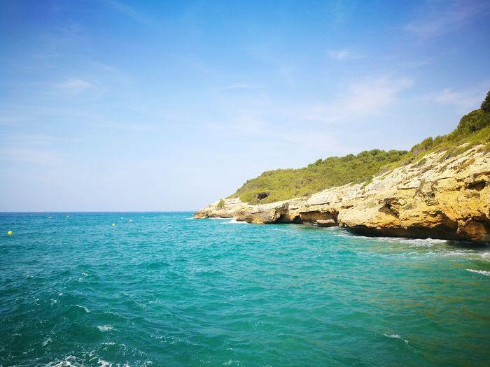 EyeEm Selects Water Sea Beach Tree Blue Beauty Summer Rock - Object Idyllic Sky Turquoise Colored Seascape