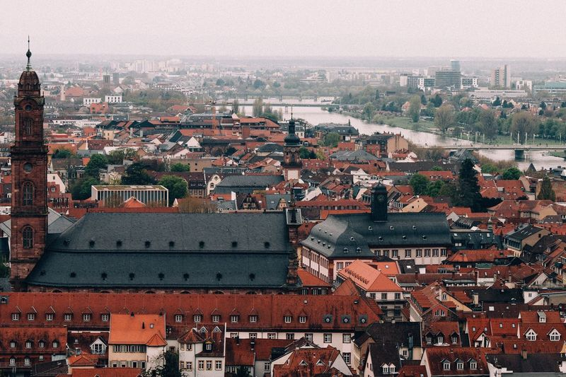Flying High Architecture Cityscape Building Exterior City Built Structure High Angle View Travel Destinations Crowded Roof Aerial View Residential Building Outdoors Sky Day Germany Deutschland Europe Eurotrip
