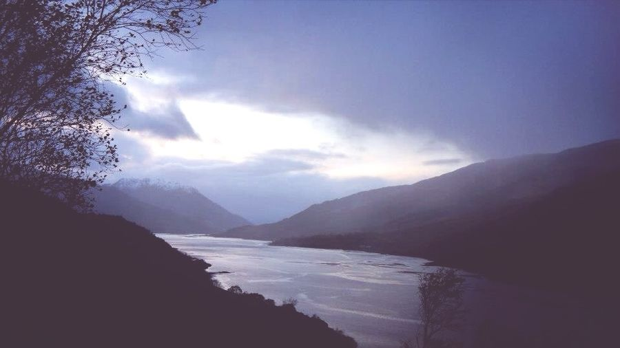 Sunset Silhouettes Cold November Scotland