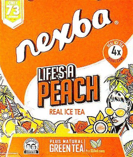 Life's A Peach Aussie Boys Certified Aussie Boys, Making Real Ice Tea Greentea Nexba ® Peach Ice Tea Green Tea Natural Green Tea Nexba Beverages Nexba ®