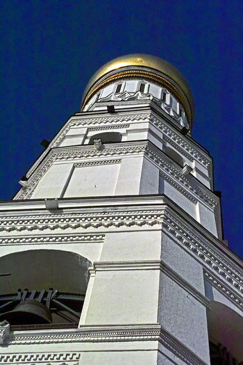 Skyward in old Moscow Architecture Building Exterior Built Structure Clear Sky Day Kremlin Low Angle View Moscow In March No People Outdoors Russian Orthodox Church Sky
