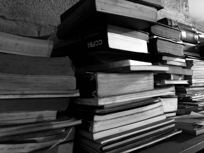 Memories Factory Factory Old Books Stack Publication Book No People Indoors  Wood - Material Education Text Paper Still Life Pattern Literature Order Abundance Architecture Large Group Of Objects In A Row