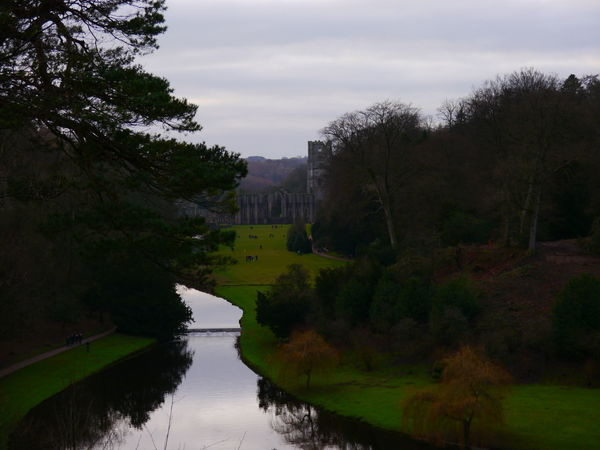 Architecture Beauty In Nature Building Exterior Built Structure Cloud - Sky Day December December 2016 Fountains Abbey Fountains Abbey Yorkshire Fountains Abbey, Yorkshire Grass Landscape Nature No People Outdoors Sky Travel Destinations Tree Water
