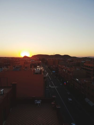 Marrakech sunset Morroco Eye4photography  Summertime Summer Views EyeEm Sunset Atlasmountains Cityscape Architecture Urban Skyline